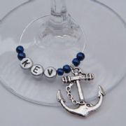 Anchor Personalised Wine Glass Charm